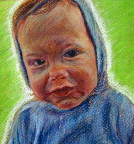 color baby pencil self portrait