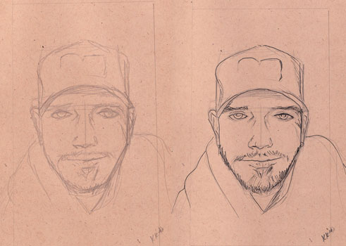 drawing-ink-outline drawing faces portraits