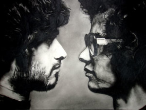 mars volta drawing freehand black and white