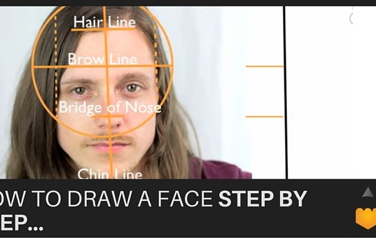 drawing faces, step by step