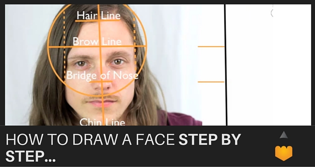 how to draw a man face step by step